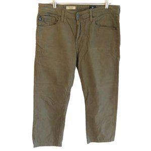 "AG Sz 34 Olive Green ""The Graduate"" Jeans Pants"
